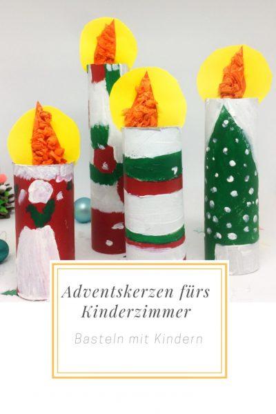 Weihnachtsbasteln Mit Kindern.Weihnachtsbasteln Mit Kindern Adventskerzen Fürs Kinderzimmer