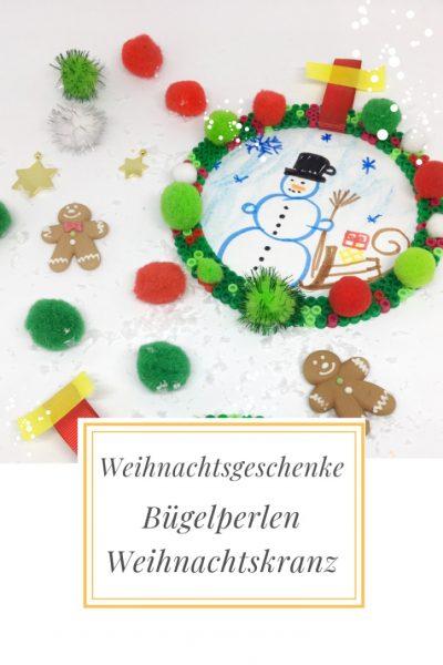 Selbstgebastelte Weihnachtsgeschenke Bugelperlen Weihnachtskranz
